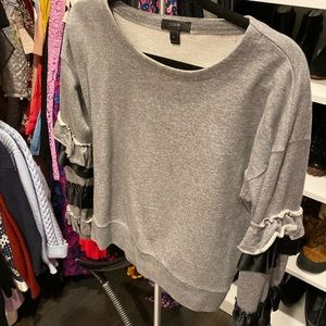 Jcrew size small sweatshirt with ruffles